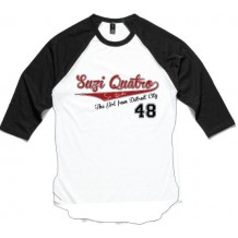 SQ White Baseball T Shirt