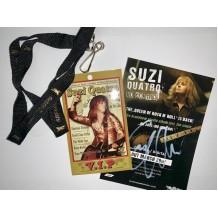 Suzi Quatro Lanyard VIP with Bonus autograph card
